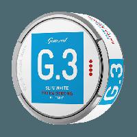 G. 3 Slim White Extra Strong Blue Mint Snus