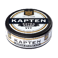 Kapten White Extra Strong Portion Snus
