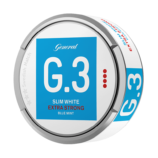 G. 3 Slim White Extra Strong Blue Mint