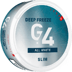 G4 Deep Freeze White Slim Snus