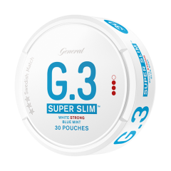 Super Slim White Strong Blue Mint Snus