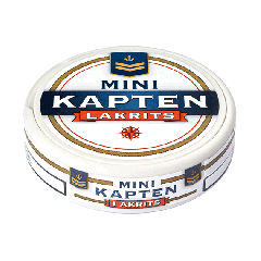 Kapten Lakrits White Mini Portion Snus
