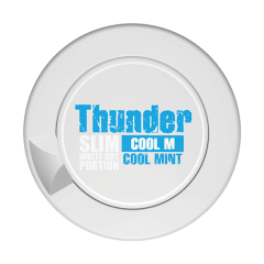 Thunder Cool Mint Slim White Dry