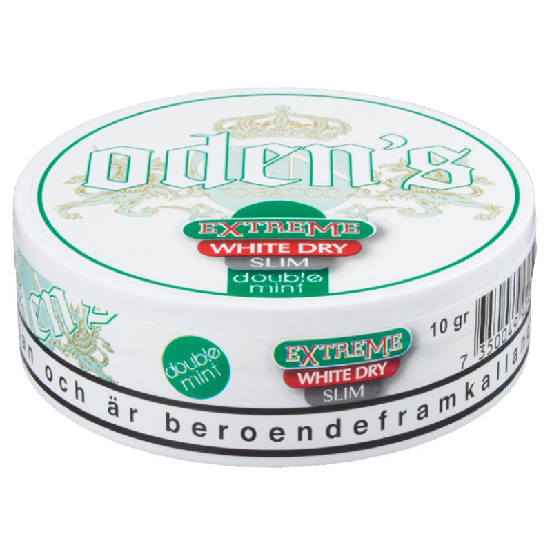 Odens Extreme White Dry Slim Double Mint