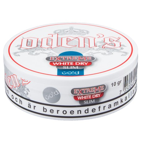 Odens Cold Extreme White Dry Portion Slim Snus