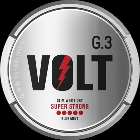G.3 Volt Super Strong Slim White Dry Snus