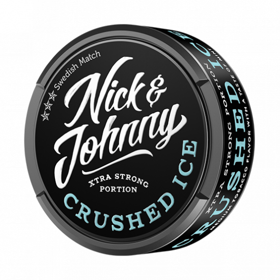 Nick & Johnny Crushed Ice Mint Xtra Strong Portionssnus