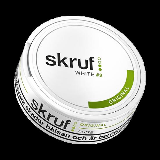 skruf original white snus